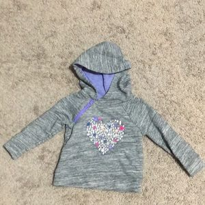Hoodie with heart graphic